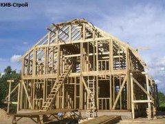 Дім із дерев'яною структурою