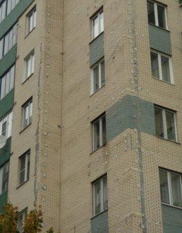 Загальний характер стану стін будинку на Замшина 31-4, СПб