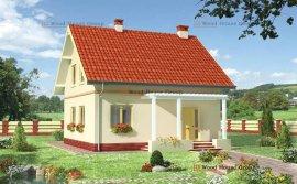 Одноповерховий дачний будинок з мансардою з піноблоків «Гідність» (E-699)