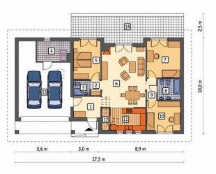 Приклад планування одноповерхового приватного будинку