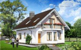 Проект дачного одноповерхового будинку з піноблоків «Крихітка» (E-697)