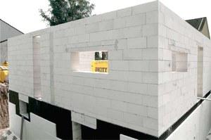 Стіна будинку з піноблоків