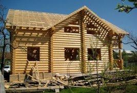 Будівництво дерев'яних будинків.
