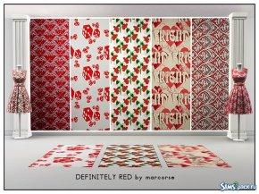 Текстури Definitely Red